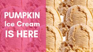 Scoops of Pumpkin Ice Cream
